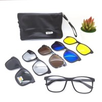 Kacamata sunglasses magnet 5 in 1