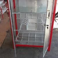 Rak Piring Gelas Keramik Pendek Box Furniture Rumah Tangga Murah