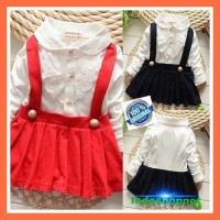Korea Baby Girl Sweet Floral Cotton Ruffle Lapel Pleated Long dress