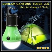 Bohlam Lampu Gantung Portable LED Anti Air 3 Mode Tenda Camping