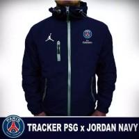 jaket waterproof club sepakbola / jaket tracker taslan high quality