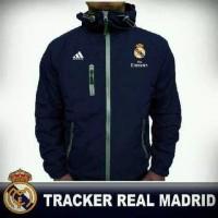 jaket tracker taslan waterproof/ jaket sepakbola club liga spanyol