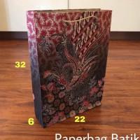 READY STOCK PAPERBAG 22X6X32 MOTIF TAS KERTAS PAPER BAG HANDLE GOODIE
