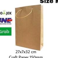 DIJUAL PAPER BAG/PAPERBAG/ TAS KERTAS /GOODIE BAG SIZE M 27X7X32