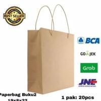 DIJUAL PAPERBAG BUKU2 PAPER BAG TAS KERTAS 19X8X22 GOODIE BAG SHOPPING