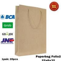 DIJUAL PAPERBAG FOLIO2 22X6X32 PAPER BAG TAS KERTAS GOODIE BAG