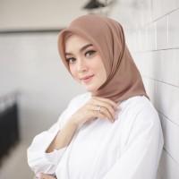 Hijab Segi Empat Polos Jilbab Square Double Hycount Murah Grosir Scarf