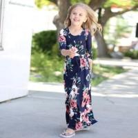 SUMMER LONG DRESS baju terusan model gamis anak perempuan import