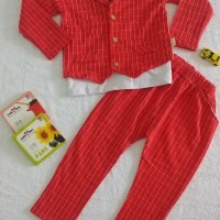 Baju Setelan 3 in 1 Jas Anak Keren Lucu   Baju Setelan Anak Import