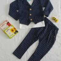 Baju Setelan 3 in 1 Jas Anak Lucu Keren  Baju Setelan Anak Import