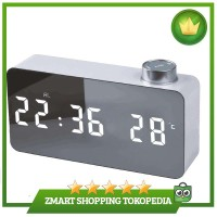 TS-S51 LED Mirror Clock Temperature Time Display USB & Battery