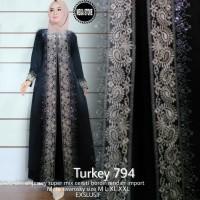 TURKEY 794 ABAYA BERMOTIF BAHAN JERSEY ORIGINAL BY MEGASTORE