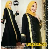 TURKEY 206 DRESS MOTIF BAHAN JETBLACK ORIGINAL BY MEGASTORE