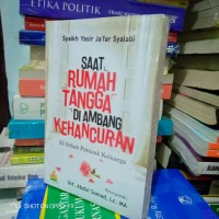 Buku - SAAT RUMAH TANGGA DIAMBANG KEHANCURAN - Ust Abdul Somad