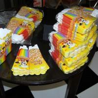 100 pcs Dus Kemasan Unik Lucu Popcorn Delicious uk 8x8x13 cm Foodgrade