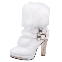 Fashion Ankle Boots for Women Shoes Pointed Toe High Heel Women