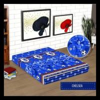 SARUNG KASUR MONALISA UK 90X200X15 (MOTIF BOLA/REMAJA) - LONDON BLACK