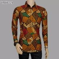 Kemeja batik pria baju batik cowok casual modern murah terlaris