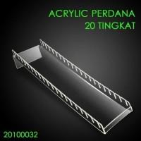 Acrylic Perdana / tempat pajangan kartu 20 Tingkat/ akrilik voucer