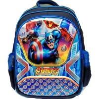 Tas Ransel Sekolah Besar Anak Laki-Laki Motif Avengers Biru - Backpack