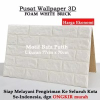Wallpaper Brick Foam Dinding Bata 3D 70 x 77 cm Wallpaper Busa