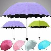 Payung Magic 3D+sarung payung Magic Umbrella Berubah motif jika Basah