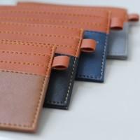 Card Holder kulit 6 slot + 1 slot money / tempat kartu / cardholder
