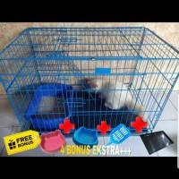 Kandang Tingkat Besi Lipat Size XL(80X52x50) Kucing / Anjing / Kelinci