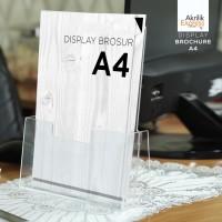 TERMURAH / Tempat brosur akrilik / Display brosur A4