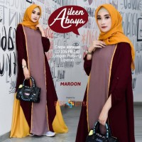 Gamis polos Ailen Abaya Dress original rissaditya