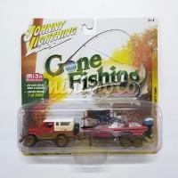 JOHNNY LIGHTNING TOYOTA LAND CRUISER FJ40 GONE FISHING RED