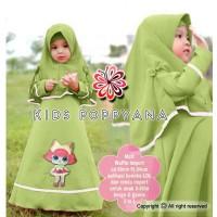 Popyana Kid Gamis Bahan Wafle/Gamis Anak/Baju Muslim Anak Perempuan