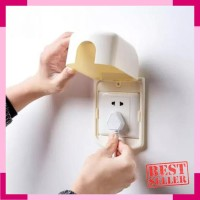 Socket Box Safety Cover / Kotak Pengaman Stop Kontak Listrik Electric
