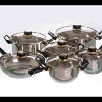 READY STOCK PANCI SET VICENZA V612 - STAINLESS COOKWARE V-612