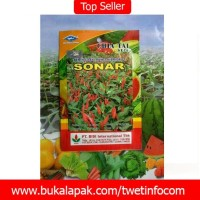 jual benih pertanian cabai rawit hibrida f1 sonar 10 gr