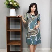 Dress Batik Katun Cirebon uk L (BAAD72123) Brand Batik Muda