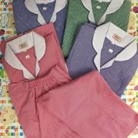 baju seragam suster motif kotak /baju pendek celana panjang