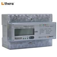 THERA TEM041N-D Series, LCD 7-Mod. 2-Tariff DIN-Rail 3-Phase kWh Meter
