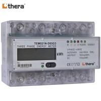 THERA TEM021N-D Series, LCD 7-Mod. 1-Tariff DIN-Rail 3-Phase kWh Meter