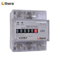 THERA TEM011N-C Series, 4-Mod. DIN-Rail 1-Phase kWh/Energy Meter