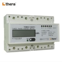 THERA TEM021-D Series, LCD 7-Module DIN-Rail 3-Phase kWh/Energy Meter