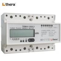 THERA TEM041-D Series, LCD 7-Mod. 2-Tariff DIN-Rail 3-Phase kWh Meter