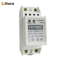 THERA TEM017-C Series, 2-Module DIN-Rail Single phase Energy/kWh Meter