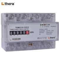 THERA TEM021N-C Series, 7-Module DIN-Rail 3-Phase kWh/Energy Meter