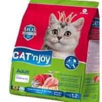Cat Food Cat'njoy tuna, chicken & shrimp adult cat 1,2kg