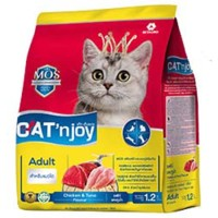 Cat Food Cat'njoy chicken & tuna adult cat 1,2kg