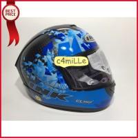 HELM INK CL MAX 6 BLACK BLUE FLUO FULL FACE