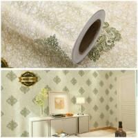 Harga wallpaper stiker dinding kamar termurah kuning gold batik hijau | Pembandingharga.com