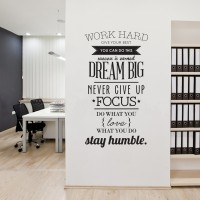 Inspirational Proverbs Patterned Removable PVC Wall Sticker