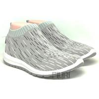 ANDO Original - SOFFIE Grey - Sepatu Sneakers Rajut Knit Wanita Promo